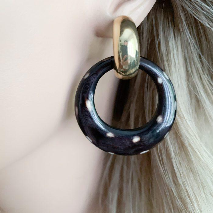 Ronde hoorn oorbellen
