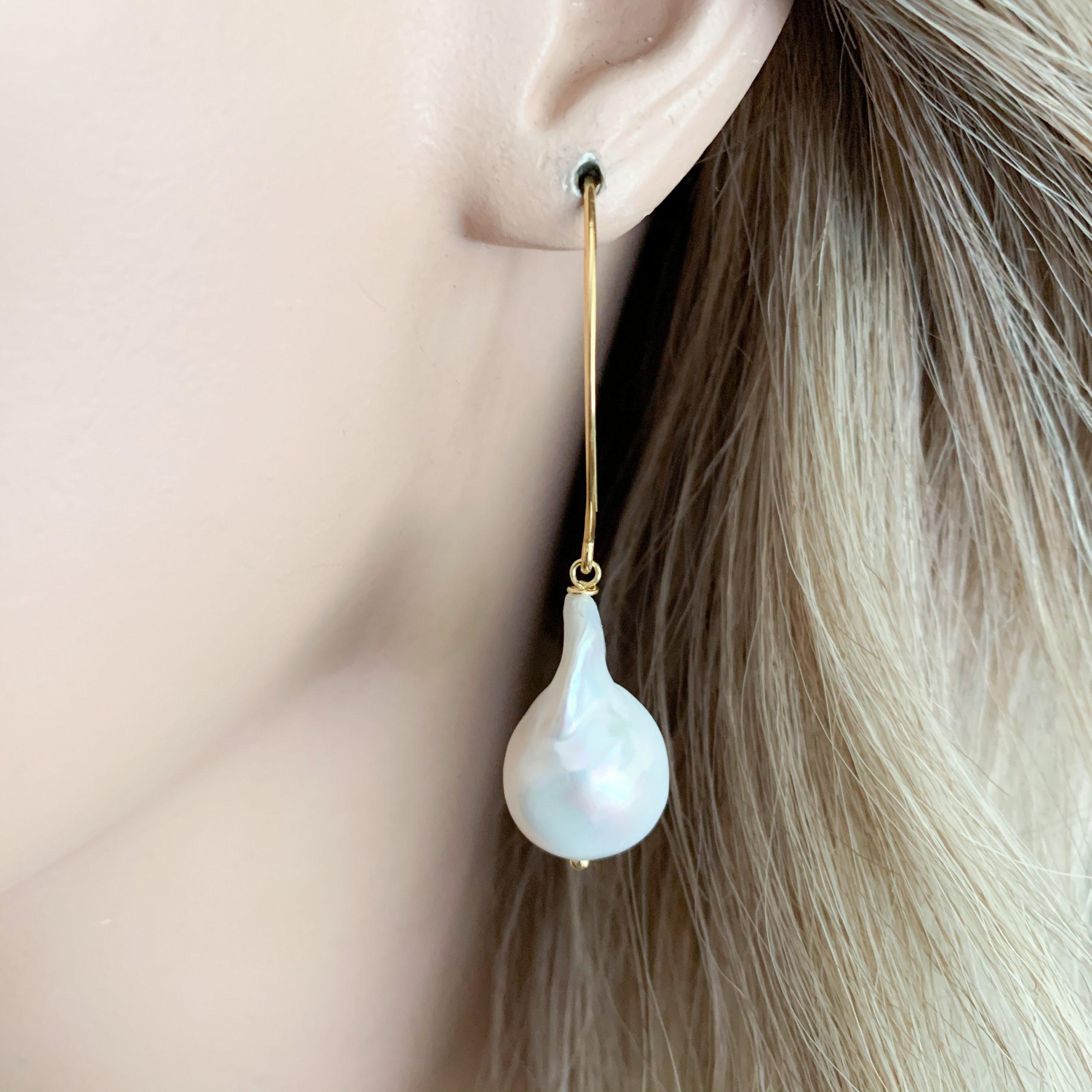 Barokparels oorbellen