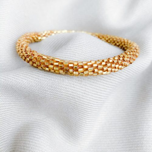 Gold/bruin miyuki armband