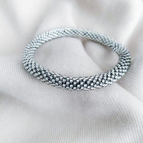 Grijze miyuki armband